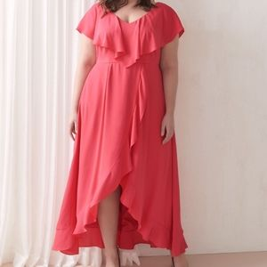 Addition Elle Luxe Formal Maxi Dress 1X NWT Cruise